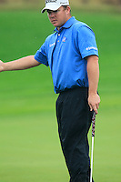 George Coetzee (RSA) misses his putt on the 1st green during Thursday's Round 1 of the 2014 BMW Masters held at Lake Malaren, Shanghai, China 30th October 2014.<br /> Picture: Eoin Clarke www.golffile.ie