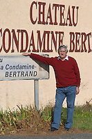 Bernard Jany Chateau la Condamine Bertrand. Pezenas region. Languedoc. Owner winemaker. France. Europe.
