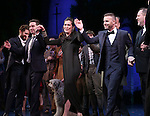 James Graham, Diane Paulus, Gary Barlow and Harvey Weinstein during the Broadway Opening Night Performance curtain call for  'Finding Neverland'  at The Lunt-Fontanne  Theatre on April 15, 2015 in New York City.