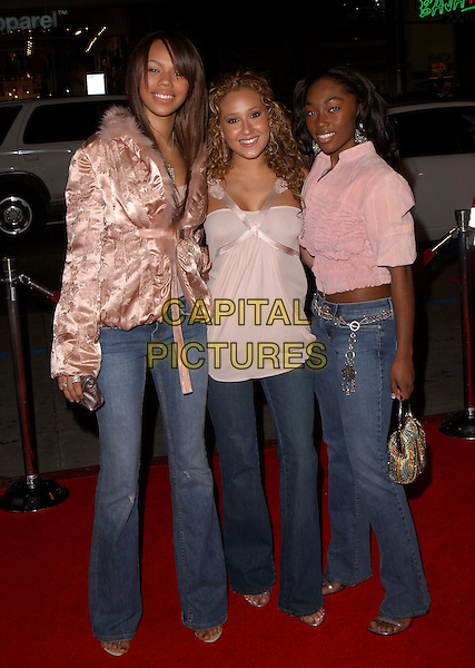 "3LW.Paramount Pictures' L.A. Premiere of ""Coach Carter"" held at The Grauman's Chinese Theatre in Hollywood, California .January 13th, 2005 .full length, jeans, denim, pink top, jacket, silk satin, furry, ribbon.www.capitalpictures.com.sales@capitalpictures.com.Supplied By Capital PIctures"