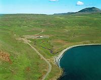 Eyðibylin Sóleyjarvellir og Gunnólfsvík, Gunnólfsvíkurfjall, Finnafjörður, Skeggjastaðahreppur /.Deserted farmes Soleyjarvellir and Gunnolfsvik in Finnafjordur, Skeggjastadahreppur