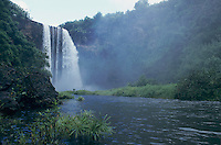 Wailua Falls and Wailua River, Kauai, Hawaii, USA, August 1996