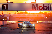 Sunset , #5 Corvette DP, João Barbosa, Sébastien Bourdais, Christian Fittipaldi  12 Hours of Sebring, Sebring International Raceway, Sebring, FL, March 2015.  (Photo by Brian Cleary/ www.bcpix.com )