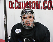 Andrew Fitzstephens (Bentley - 9) - The Harvard University Crimson defeated the visiting Bentley University Falcons 3-0 on Saturday, October 26, 2013, in Harvard's season opener at Bright-Landry Hockey Center in Cambridge, Massachusetts.