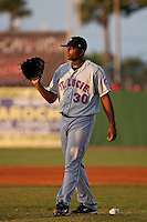 Robert Carson (30) of the St. Lucie Mets during a game vs. the Daytona Cubs May 17 2010 at Jackie Robinson Ballpark in Daytona Beach, Florida. St. Lucie won the game against Daytona by the score of 5-2.  Photo By Scott Jontes/Four Seam Images