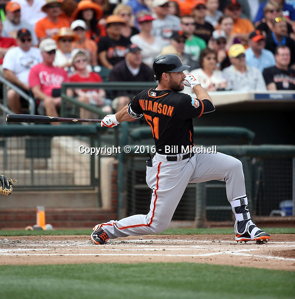 Mac Williamson - San Francisco Giants 2016 spring training (Bill Mitchell)