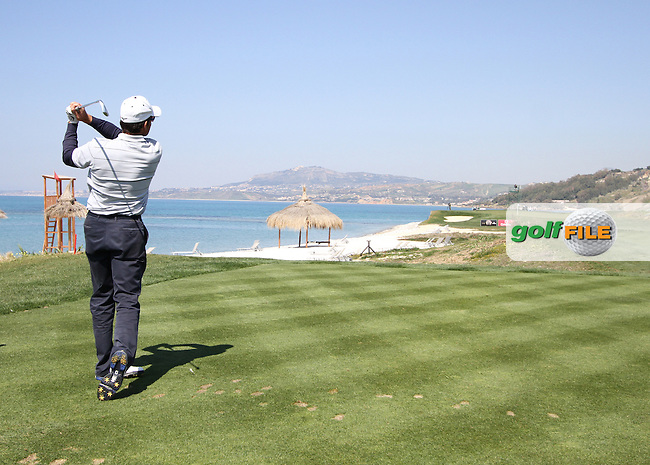 Ignacio Garrido (ESP) on the 8th on the 1st Day of the 2012 Sicilian Open at Verdura Golf and Spa Resort..(Photo Jenny Matthews/www.golffile.ie)