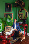 Real estate broker for the rich and famous, Jared Seligman, 27, at his apartment on the Upper East Side of Manhattan.