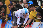 Christopher Froome (GBR) Team Sky in action during Stage 1, a 14km individual time trial around Dusseldorf, of the 104th edition of the Tour de France 2017, Dusseldorf, Germany. 1st July 2017.<br /> Picture: Eoin Clarke | Cyclefile<br /> <br /> <br /> All photos usage must carry mandatory copyright credit (&copy; Cyclefile | Eoin Clarke)