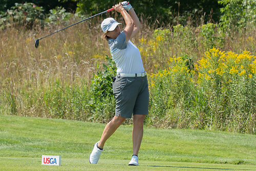 Judith Kyrinis tees off on the sixteenth hole during the US Womenu0027s Mid-Amateur Sectional Qualifying at the Chaska Town Course on August 30 2017. : usga sectional qualifying - Sectionals, Sofas & Couches