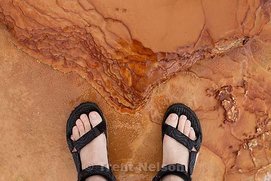 Trent feet at Crystal Springs Geyser. 6.22.2005<br />