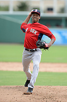 Boston Red Sox pitcher Kevin Steen (78) during an Instructional League game against the Minnesota Twins on September 26, 2014 at jetBlue Park at Fenway South in Fort Myers, Florida.  (Mike Janes/Four Seam Images)