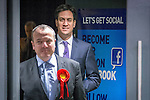 © Joel Goodman - 07973 332324 . 31/01/2014 . Manchester , UK . Leader of the Labour Party , ED MILIBAND and Mike Kane , arrive ahead of delivering a speech and Q&A at Wythenshawe Forum this afternoon (31st January 2014) as the party continues to campaign for Mike Kane in the upcoming Wythenshawe and Sale East by-election , following the death of Paul Goggins . Photo credit : Joel Goodman