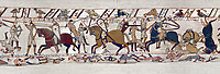 11th Century Medieval Bayeux Tapestry - Scene 53 - Scenes from the battle of Hastings