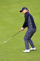 Morgan Pressel (USA) on the 1st green during Day 3 Singles at the Solheim Cup 2019, Gleneagles Golf CLub, Auchterarder, Perthshire, Scotland. 15/09/2019.<br /> Picture Thos Caffrey / Golffile.ie<br /> <br /> All photo usage must carry mandatory copyright credit (© Golffile | Thos Caffrey)
