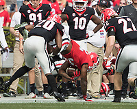 Athens, Georgia - April 21, 2018: Sanford Stadium, University of Georgia Football, G-Day.