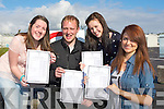 DELIGHTED: Students from Causeway Comprehensive Secondry School, who were deleighted with their leavinmg cert results on Wednedsday morning at Causeway Comprehensive. L-r: Laura Hussey (Ballyheigue), Chris Barrett, Lauren Dineen and Aisling Griffin (Causeway. ..
