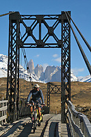 Don Thomas on a morning spin in Torres del Paine - Chile