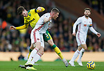 John Lundstram of Sheffield United and Sam Byram of Norwich City battle for the ball during the Premier League match at Carrow Road, Norwich. Picture date: 8th December 2019. Picture credit should read: James Wilson/Sportimage