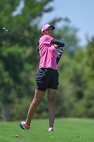 Aditi Ashok (IND) hits her approach shot on 1 during round 1 of  the Volunteers of America LPGA Texas Classic, at the Old American Golf Club in The Colony, Texas, USA. 5/5/2018.<br /> Picture: Golffile | Ken Murray<br /> <br /> <br /> All photo usage must carry mandatory copyright credit (&copy; Golffile | Ken Murray)
