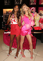 LOS ANGELES, CA - FEBRUARY 7: Jasmine Tookes and Romee Strijd pictured as Victoria's Secret celebrates self-love this Valentine's Day at the Beverly Center Victoria's Secret Store Thursday, February 7, 2019 in Los Angeles, California. <br /> CAP/MPIFS<br /> ©MPIFS/Capital Pictures
