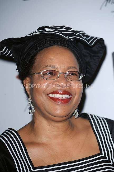 WWW.ACEPIXS.COM . . . . . ....July 15 2009, New York City....Graca Machel, wife of Nelson Mandela, at the Mandela Day Gala Dinner hosted by 46664 and the Nelson Mandela Foundation at Grand Central Terminal on July 15, 2009 in New York City.....Please byline: KRISTIN CALLAHAN - ACEPIXS.COM.. . . . . . ..Ace Pictures, Inc:  ..tel: (212) 243 8787 or (646) 769 0430..e-mail: info@acepixs.com..web: http://www.acepixs.com