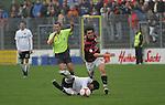 Sandhausen 19.04.2008, Alberto Mendez (SV Sandhausen) und Andreas Buchner (Ingolstadt) in der Regionalliga S&uuml;d 2007/08 SV Sandhausen 1916 - FC Ingolstadt 04<br /> <br /> Foto &copy; Rhein-Neckar-Picture *** Foto ist honorarpflichtig! *** Auf Anfrage in h&ouml;herer Qualit&auml;t/Aufl&ouml;sung. Belegexemplar erbeten.