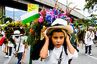Children takes part during the 58th Silleteros' parade in the framework of the flowers' fair, this year the parade was declared intangible heritage of Colombia. Medellín, Colombia 09/08/2015