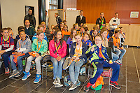 April 17, 2015, Netherlands, Den Bosch, Maaspoort, Fedcup Netherlands-Australia,  schoolgids in the Cityhall during Draw<br /> Photo: Tennisimages/Henk Koster