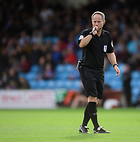 Referee Robert Lewis<br /> <br /> Photographer Chris Vaughan/CameraSport<br /> <br /> The EFL Sky Bet League One - Scunthorpe United v Peterborough United - Saturday 13th October 2018 - Glanford Park - Scunthorpe<br /> <br /> World Copyright © 2018 CameraSport. All rights reserved. 43 Linden Ave. Countesthorpe. Leicester. England. LE8 5PG - Tel: +44 (0) 116 277 4147 - admin@camerasport.com - www.camerasport.com