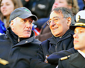 White House Chief of Staff Bill Daley, left, and United States Secretary of Defense Leon Panetta, right, share some thoughts as they watch he 112th meeting of the United States Army Black Knights and the U.S. Navy Midshipmen at FedEx Field in Landover, Maryland on Saturday, December 10, 2011..Credit: Ron Sachs / CNP