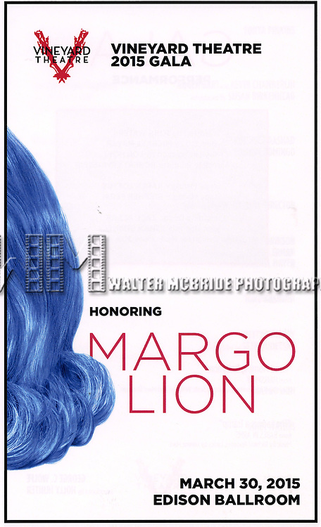 The 2015 Vineyard Theatre Gala presentation honoring Margo Lion at Edison Ballroom on March 30, 2015 in New York City.