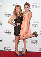 UNIVERSAL CITY, CA - JULY 22: Julianna Rose and Jennessa Rose at the 2012 Staples For Students 'Party' For A Cause hosted by Staples, DoSomething.org and Bella Thorne at the Globe Theatre at Universal Studios on July 22, 2012 in Universal City, California © mpi21/MediaPunch Inc. /NortePhoto.com*<br />