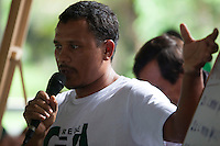 Geová, liderança comunitária membro do GTA.<br /> durante o IV Encontrão  para dar continuidade a implantação do protocolo comunitário no Arquipélago do Bailique  na foz do rio Amazonas, Amapá, Brasil.Foto Paulo Santos 13/06/2015