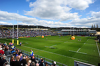 Half-time entertainment courtesy of Jaffa Fruit. Aviva Premiership match, between Bath Rugby and Sale Sharks on April 23, 2016 at the Recreation Ground in Bath, England. Photo by: Patrick Khachfe / Onside Images