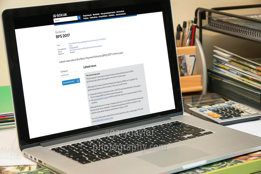 Basic Payment Scheme in England 2017 - Latest News