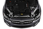 Car Stock 2019 Mercedes Benz E-Class AMG-E53 4 Door Sedan Engine  high angle detail view
