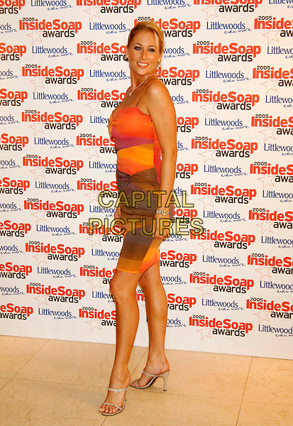 KATY EDWARDS.Inside Soap Awards 2005 at Floridita London, WI, London..September 26th, 2005.full length orange dress.www.capitalpictures.com.sales@capitalpictures.com.©Capital Pictures