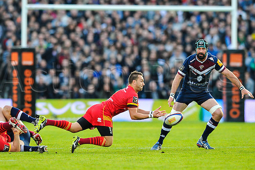 29.03.2014. Bordeaux, France. Top 14 rugby Union. Bordeaux versus Perpignan.  Dewaldt DUVENAGE (usap)