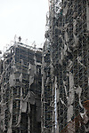 Kaohsiung, Taiwan -- Gutted scaffolding of a high-rise building under construction.<br /> <br /> Picture was taken two days after typhoon Morakot blew through the city on August 8th, 2009, causing substantial damage and flooding.