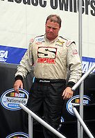 Apr 26, 2008; Talladega, AL, USA; NASCAR Nationwide Series driver Johnny Chapman prior to the Aarons 312 at the Talladega Superspeedway. Mandatory Credit: Mark J. Rebilas-