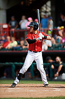 Erie SeaWolves pinch hitter Logan Watkins (1) at bat during a game against the Akron RubberDucks on August 27, 2017 at UPMC Park in Erie, Pennsylvania.  Akron defeated Erie 6-4.  (Mike Janes/Four Seam Images)
