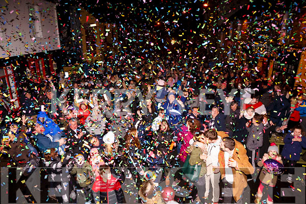 The streets of Waterville came alive for the New Year's celebration.