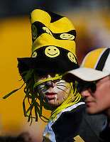 Jul 7, 2007; Hamilton, ON, CAN; Face painted Hamilton Tiger-Cats fan Evan Fraser, 15, prior to the 2007 season home opener against the Toronto Argonauts at Ivor Wynne Stadium. The Argos defeated the Tiger-Cats 30-5. Mandatory Credit: Ron Scheffler, Special to the Spectator.