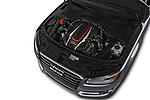Car stock 2018 Audi S8 Plus quattro Tiptronic 4 Door Sedan engine high angle detail view