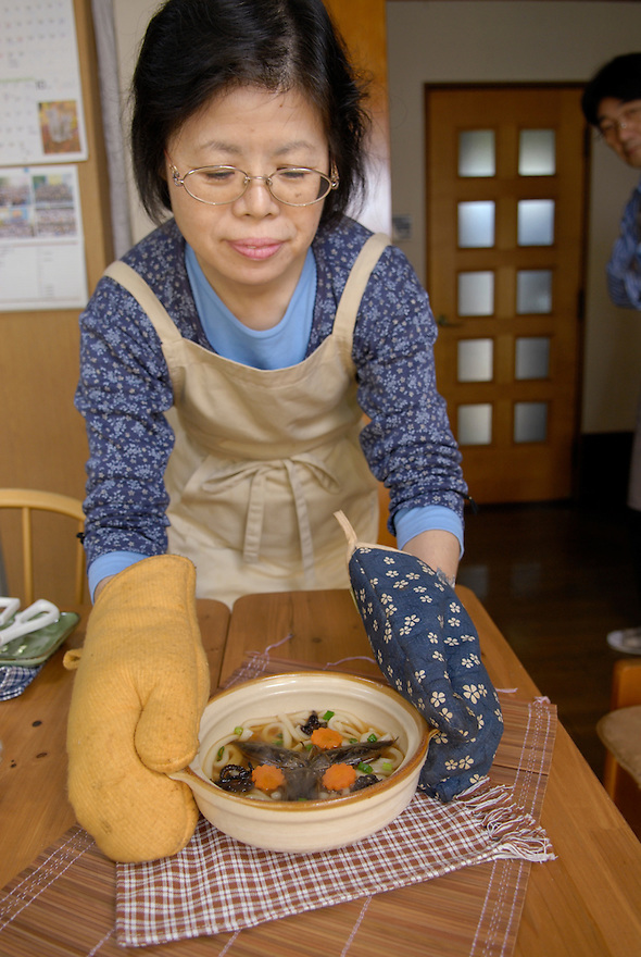 "Chisato Uchiyama serves up Taiwanese water bugs with Japanese udon noodles. Tokyo resident Shoichi Uchiyama is the author of ""Fun Insect Cooking"". His blog on the topic gets 400 hits a day. He believes insects could one day be the solution to food shortages, and that rearing bugs at home could dispel food safety worries."