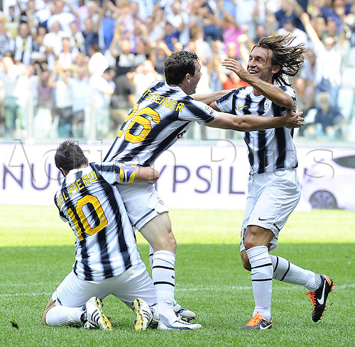 11 09 2011  Turin, Italy. Series A Juventus versus Parma.  Photo goal celebrations from scorer Stephan Lichtsteiner of Juve
