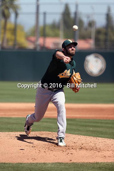 Chris Jensen - Oakland Athletics 2016 spring training (Bill Mitchell)