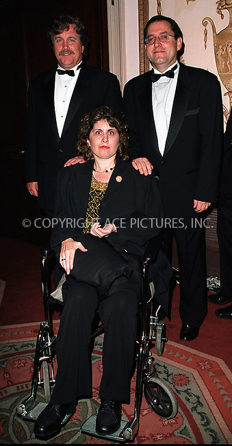 (L to R) Michael Barker, Marcie Bloom and Tom Bernard, producers from Sony Pictures Classics, arrive at Waldorf-Astoria for the 3rd Annual Directors Guild of America Awards. New York, June 9, 2002. Please byline: Alecsey Boldeskul/NY Photo Press.   ..*PAY-PER-USE*      ....NY Photo Press:  ..phone (646) 267-6913;   ..e-mail: info@nyphotopress.com