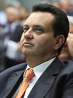 .ATENCAO EDITOR: FOTO EMBARGADA PARA VEICULO INTERNACIONAL - SAO PAULO, SP, 10 DEZEMBRO 2012 - PALESTRA HENRIQUE MEIRELLES NA ASSOCIACAO COMERCIAL DE SP-  O prefeito de Sao Paulo Gilberto Kassab participou da palestra do ex presidente do Banco Central do Brasil Henrique Meirelles na reuniao do Conselho Politico e Social da Associacao Comercial de Sao Paulo em sua sede na Se regiao central da cidade nessa segunda, 10. (FOTO: LEVY RIBEIRO / BRAZIL PHOTO PRESS)